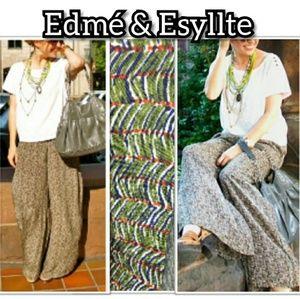 Anthropologie Edme & Esyllte Wide Leg Trousers